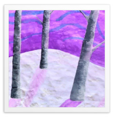 "Aime' Freedenberg, ""Winter Birch Trees"""