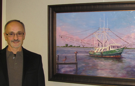 Appalach Shrimper, Dr. David Salerno, Intermediate, Best of Show, Painting, Employee; Cardiologist