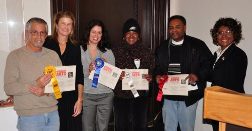 Winners in the Professional Category pictured with Jackie Szafara, Executive Director of the NAP and City Councilwoman Blondell Reynolds-Brown