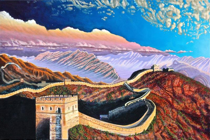 Great wall of china painting