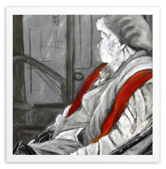 "Natasha Payne-Brunson, ""Old Lady with a Red Scarf"""