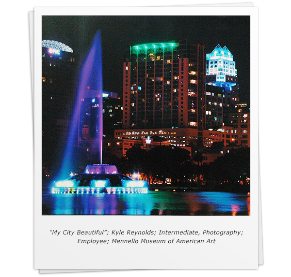 """My City Beautiful""; Kyle Reynolds; Intermediate, Photography; Employee; Mennello Museum of American Art"