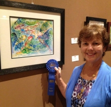 """Koi"" Ann Shaw; Amateur, First Place; Works on Paper Relative; Osceola Arts"