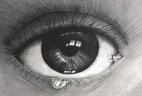 """Look Within""; Pencil"