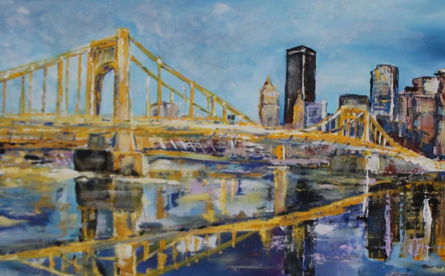 """""""Reflection in Yellow""""; Arion Grzeuk; Professional; Painting; Employee; Fire Bureau"""