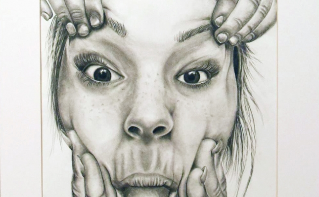 """PJ""; Maggie McCulloch; Teen 13-18, Art Education Award; Works on Paper; Relative; English Department"