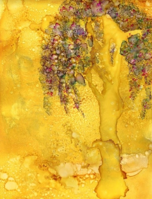 alcohol inks workshops Santa Rosa California yupo golden tree InksInMotion