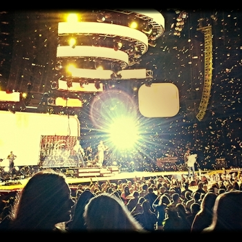concert, confetti, friends, silhouette,stage, band