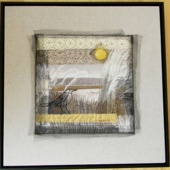 quilting, embroidery, beadwork, photography on linen and cotton.