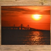 """""""Sunset on the Chesapeake"""" by Nevin Steffy  Nevin's photograph received an astounding 259 'likes' on the Delaware Division of the Arts' Facebook page, making him the State of Delaware's """"People's Choice"""" winner for 2014!"""