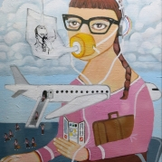 Quarter-Life Crisis Julie Fischer Professional, Best of Show Painting Employee; Delta Airlines