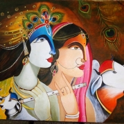 Radha Krishna Painting, 100% handcrafted, Excellent condition