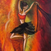 Dance Painting, Fantastic Painting, Girl Painting,