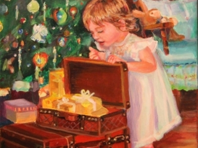 Christmas, oil paintings