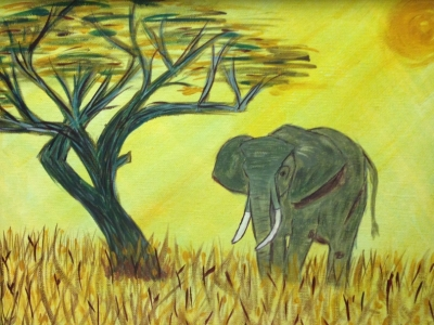 Elephant, animal rights, by Dawn Cooper, Moonscribe, how I became an elephant