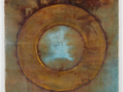Encaustic painting, pigment sticks, beeswax, demar resin, Eco dying, transfer of rust to fabric
