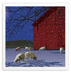 "Linda Q. Tajirian ""Winter Sheep"""